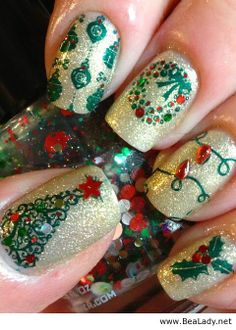 Sparkly Christmas - BeaLady.net...cute, but I don't have this kind of talent lol