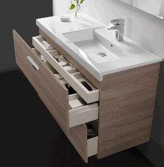 Bathroom Spaces Its Pieces Furniture Include Hidden Drawer Roca Bathroom, Tv In Bathroom, Steam Showers Bathroom, Bathroom Basin, Bathroom Furniture, Bathroom Storage, Bathroom Trends 2017, Wall Mounted Vanity, Modern Bathroom Design