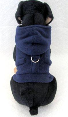 Navy Fleece Dog Hoodie Dog Harness Vest Dog by TheWhitePeacock22 Cachorro,  Animais, Velo De 2659b9cb28