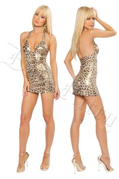 9921bb129f69 Golden Cheetah O Ring Dress [JV8069] - $56.99 : Clubwear, Pole Dancing  Clothes