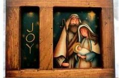 Nativity Church, Christmas Nativity, Christmas Deco, Christmas Signs, Winter Christmas, Arte Country, Pintura Country, Tole Painting, Painting On Wood