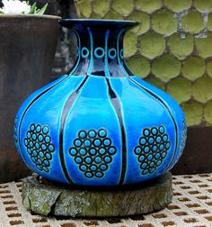 Rare French Art Deco Vase By Longwy Primavera For Department Store 'Printemps'. 1930s. Mint Condition by FloMorganGallery on Etsy https://www.etsy.com/au/listing/289224735/rare-french-art-deco-vase-by-longwy