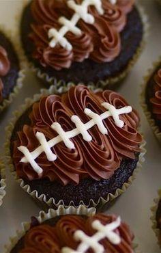 Week 13 Tailgating Ideas - Football Cupcakes- #gameday #tailgating #foodporn http://livedan330.com/2014/11/27/week-13-tailgating-ideas/