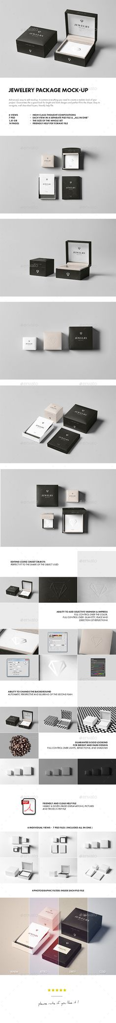 Jewelery Package Mock-up #design Download: http://graphicriver.net/item/jewelery-package-mockup/14517078?ref=ksioks