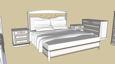 Large preview of 3D Model of  bed