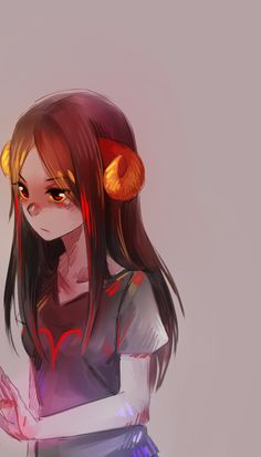 Aradia Megido | I always imagine her with wavy hair but she looks cute with straight hair too