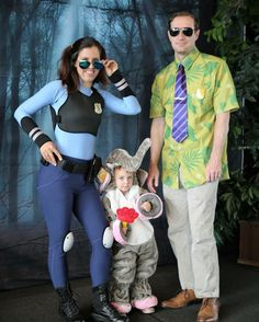 """Happy Halloween from Zootopia where """"anyone can be anything""""! ~Officer Judy Hopps, Finnick aka Toot-Toot & Nick Wilde . . . . #zootopia #halloween #halloweencostume #halloweenfamily #familyhalloween #familycostume #costume #nickwilde #judyhopps #finnick #toottoot #anyonecanbeanything #costume #cosplay #zootopiacostume #zootopiacostumes #zootopiafamily #familycosplay #cosplayfamily"""