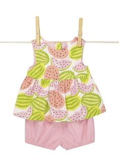 Baby Girl Fruit Design Top And Bloomer Set - BHS