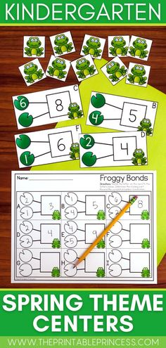 This packet includes 6 math and literacy centers and 6 extra no-prep practice pages with a fun spring theme. Activities are hands-on, interactive, engaging and perfect for Kindergarten as your students spring into learning onset & rime with CVC words, work with teen numbers, ten frames, number bonds and more!