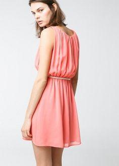 Detachable belt dress - Dresses - Women - MANGO