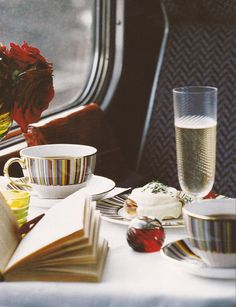 Train travel!....books tea trains and champagne..thats the way to travel