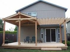 patio roof designs - split cover and open