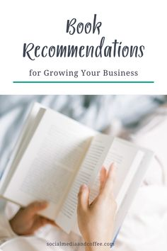 I know I'm always looking for a good book recommendation! Here are several of my favorite book recommendations for growing your business. Social Media marketing | online business | blog | blogging | Facebook marketing | Instagram marketing | marketing ideas | social media tips | small business marketing | entrepreneur | #socialmedia #books #marketing #business #smallbusiness #entrepreneuer #Facebook #Instagram