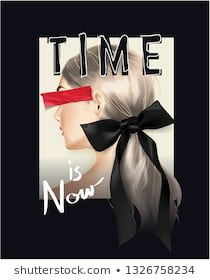 time is now slogan with girl and black ribbon hair ties illustration Ribbon Hair Ties, Markova, Home Quotes And Sayings, Wedding Ties, Girls Tees, Black Ribbon, Girls Image, Royalty Free Images, Slogan