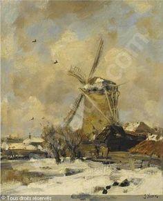 A WINDMILL IN A WINTER LANDSCAPE vendu par Sotheby's, Amsterdam, on mardi 16 octobre 2007
