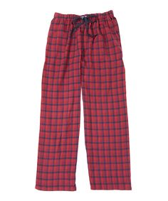 Look what I found on #zulily! Red Windowpane Lounge Pants by Ben Sherman #zulilyfinds