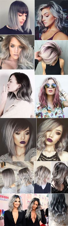 New hair color pastel grey silver colour ideas Love Hair, Gorgeous Hair, Corte Y Color, Grunge Hair, Ombre Hair, Gray Hair, White Hair, Pretty Hairstyles, Thin Hairstyles