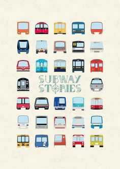 Subway Stories by Lorenzo D'Ambra, via Behance
