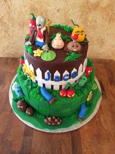 Plants vs zombies 6th birthday cake