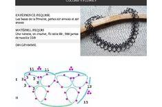 Diagramme pour un collier en frivolité