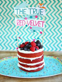 Dulce Delight: The True Red Velvet Cake with Goat Cheese Frosting