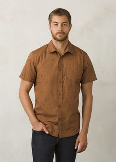 Tree Bark Broderick Shirt | Men > Tops > Shirts