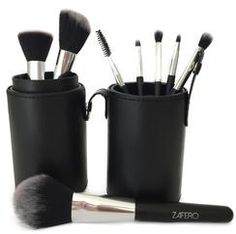 $19.99  ZAFERO MAKE UP BRUSHES +CASE  This brush set contains eight of the best beauty tools of the trade. Each brush is specially designed with firm bristles for high-definition makeup application of face, eye and lip cosmetics.  Set Include: 1 Beautiful Black Case 1 Flat Foundation Brush 1 Powder Brush 1 Angled Blush and Contour Brush 1 Double side Eyebrow Brush 1 Eye Shadow Brush 1 Eyeliner Brush 1 Blending Brush 1 Lip Brush