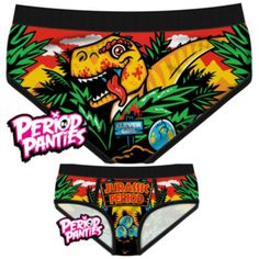 Jurassic Period Briefs (Jurassic Park) Life finds a way… and it's  hiding in that bush. Panties are 95% cotton & 5% elastane. Made in China.