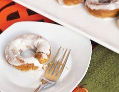 Skinny Cream Cheese Glazed Pumpkin Doughnuts | Skinny Mom | Where Moms Get the Skinny on Healthy Living