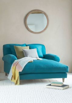 We've deepened the deepness on this ludicrously squishy Crumpet love seat chaise. Stretch it out, people! Casa Petra, Bedroom Sitting Room, Master Bedroom, Sofa Furniture, Furniture Cleaning, Home Decor Inspiration, Decoration, Living Room Decor, Love Seat