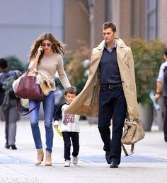 gisele, tom and baby = perfect looking family