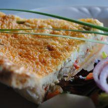 Une recette légère pour tous les jours: Quiche thon légumes sur Recettes.net…
