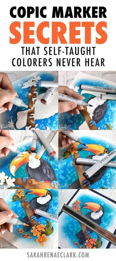 Copic Marker Secrets That Self Taught Colorers Never Hear - Whats The Secret To Blending Copic Markers Does Paper Matter Find Out These Answers And Other Copic Marker Secrets That Self Taught Colorers Never Hear In This Guest Article From Amy Shulke I Copic Pens, Copic Art, Copics, Prismacolor, Coloring Tips, Adult Coloring, Coloring Books, Colouring In, Colouring Techniques