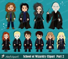 Harry Potter Digital Clipart, Wizard Clipart, Magic Clipart, Part 2 Art Clipart, Witch Clipart, Scrapbook Kit, Simple Collage, The Originals Characters, Web Design, Fan Art, Harry Potter Characters, Clips