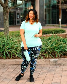 One LIVI Activewear Tee Styled Three Ways   Estrella Fashion Report Third Way, Mint Color, Plus Size Activewear, Lane Bryant, Tees, Shirts, Active Wear, Collection, Style