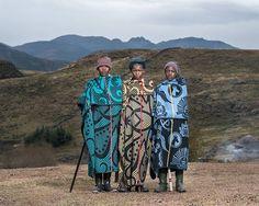 Tebalo Linkoane, Mantso Nyane Nyelinane, Lekhooa Linkoane - Semonkong, Lesotho 2016 - Thom Pierce