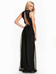 High Neck Mesh Dress - Nly Eve - Black - Party Dresses - Clothing - Women - Nelly.com