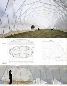 MoomTensegritic Membrance Structure, Chiba – Japan (2011).  Kazuhiro Kojima laboratory (Tokyo university of science).