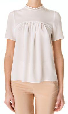 Vanessa Bruno Silk Blouse - Embellished collar #ss13