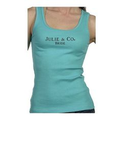 Tiffany & Co. inspired bridal party or bachelorette party tank tops.