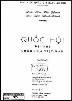 Luận Văn Tốt Nghiệp - Quốc Hội Đệ Nhị Cộng Hòa Việt Nam   Sách Việt Nam