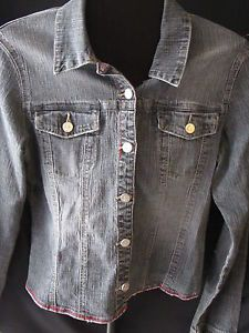 Jou-Jou-Stonewash-Jean-Jacket-Coat-Juniors-XL-Cotton-Blend-Spandex-Long-Sleeve
