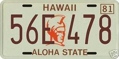 Magnum-PI-Tom-Selleck-1980-Hawaii-Lic-plates-3-pc-set