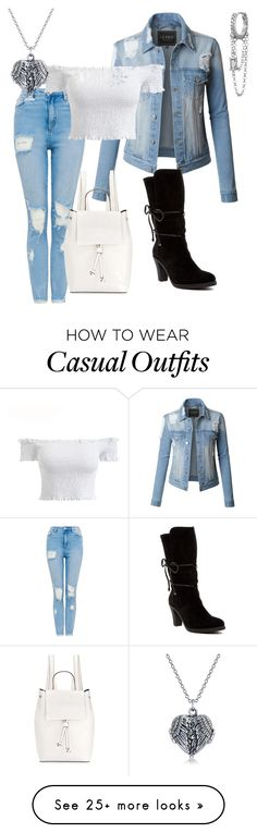 """Casual cute"" by raynbow-lexa on Polyvore featuring LE3NO, Johnston & Murphy, French Connection, Bling Jewelry, Maria Tash and MyFaveTshirt"