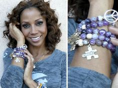 OpenSky Exclusive: The Honesty Bracelet for Autism Awareness - Amethyst Beads, wish i could get this