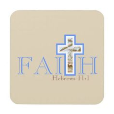 Shop Faith Coaster Set created by VersesForThought. Personalize it with photos & text or purchase as is!