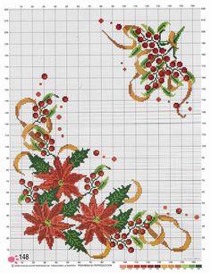 Tiny Cross Stitch, Xmas Cross Stitch, Cross Stitch Cards, Beaded Cross Stitch, Cross Stitch Borders, Cross Stitch Flowers, Cross Stitch Designs, Cross Stitching, Cross Stitch Embroidery
