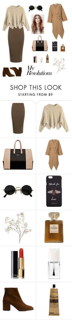 """#PolyPresents: New Year's Resolutions"" by yyulia ❤ liked on Polyvore featuring Boohoo, La Perla, J.W. Anderson, Gucci, Pier 1 Imports, Chanel, Christian Dior, Stuart Weitzman, Aesop and contestentry"