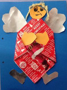 ANGELET DE NADAL - Material: paper, tovallons de paper, cartolina, colors, tisores, cola, llana - Nivell: CM 3PRIM 2015/16 Escola Pia Balmes
