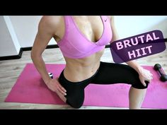 Brutal HIIT For Abs Butt Chest And Back 20 Minute
